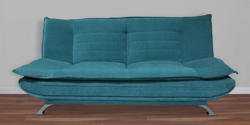 Sofa cum Bed in Sea Blue Colour by Crystal Furnitech