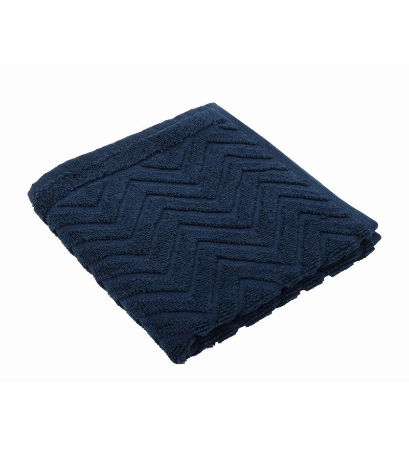 Blue 100% Cotton 16 X 24 Hand Towel by Softweave