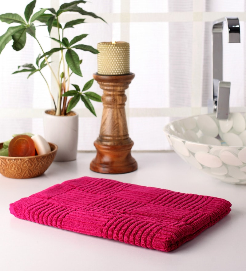 Pink Cotton 39 x 20 Hand Towel by Softweave