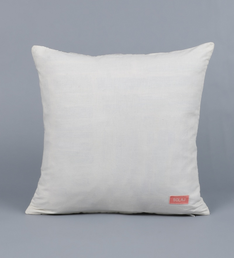 Solid Cotton 16 x 16 inch Cushion Cover by Solaj