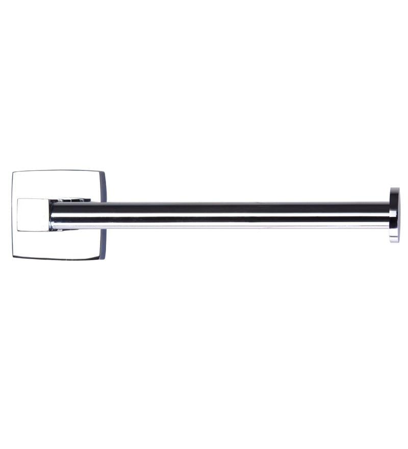 KRM Decor Solitaire Silver Brass  8.3 x 2.4 x 4.3 Inch  Toilet Paper Holder
