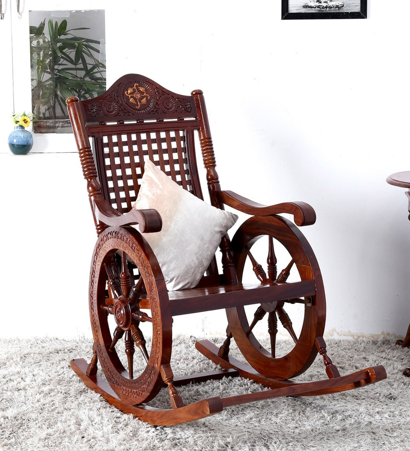 Somerville Rocking Chair in Honey Oak Finish by Amberville