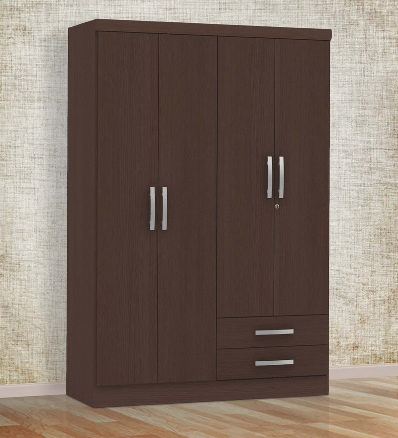 Sora Four Door Wardrobe in Tobacco Finish by Mintwud