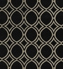 Sofiabrands Black & Cream Woolen 96 x 60 Inch Circular Pattern Carpet