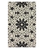 Sofiabrands Black Wool 60 x 96 Inch Floral Carpet