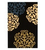 Sofiabrands Black Woolen 96 x 60 Inch Abstract Carpet
