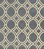 Sofiabrands Grey & Cream Woolen 96 x 60 Inch Circular Pattern Carpet