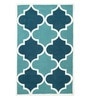 Sofiabrands Turquoise Wool 60 x 96 Inch Modern Carpet
