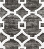 Sofiabrands White & Grey Woolen 96 x 60 Inch Abstract Carpet
