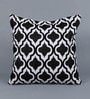 Black Cotton 18 x 18 Inch Metallic Cushion Cover by Solaj