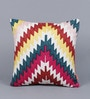 Solaj Multicolour Cotton 16 x 16 Inch Cushion Cover