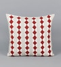 Multicolour Cotton 18 x 18 Inch Embroidered Cushion Cover by Solaj