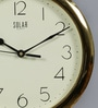 Gold Plastic 11 Inch Round Gloom Wall Clock by Solar