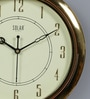 Gold Plastic 11 Inch Round Sweep Wall Clock by Solar