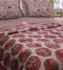 Red & White Nature & Florals Cotton Queen Size Quilt 1 Pc by Soma