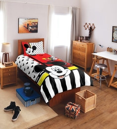 SPACES Disney Mickey Red Single Bedsheet With 1 Pillow Cover
