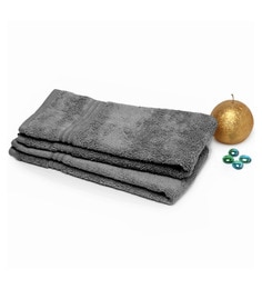 Spaces Grey 100% Cotton 16 X 24 Inch Swift Dry Hand Towel - Set Of 2