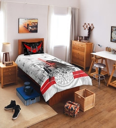 Spaces Starwars Lucasfilm Black And White Single Bedsheet - Set Of 2