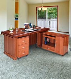 a666cff8f8c Louis Boss Table in High Gloss Rosewood Finsih with Mobile Pedestal    Drawers ...