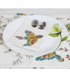 Spiral Kitchen Bird Print Multicolour Canvas Cutlery Holders - Set Of 6