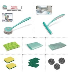 Spotzero Kitchen Cleaning Set - Set Of 13