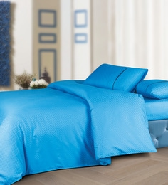 Spread Light Blue 100% Cotton Double Size Duvet Cover