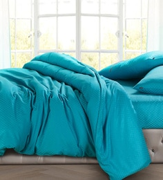 Spread Turquoise 100% Cotton Double Size Duvet Cover