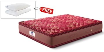 spring koil pillow top queen size 8 inch bonnell spring mattress by peps india