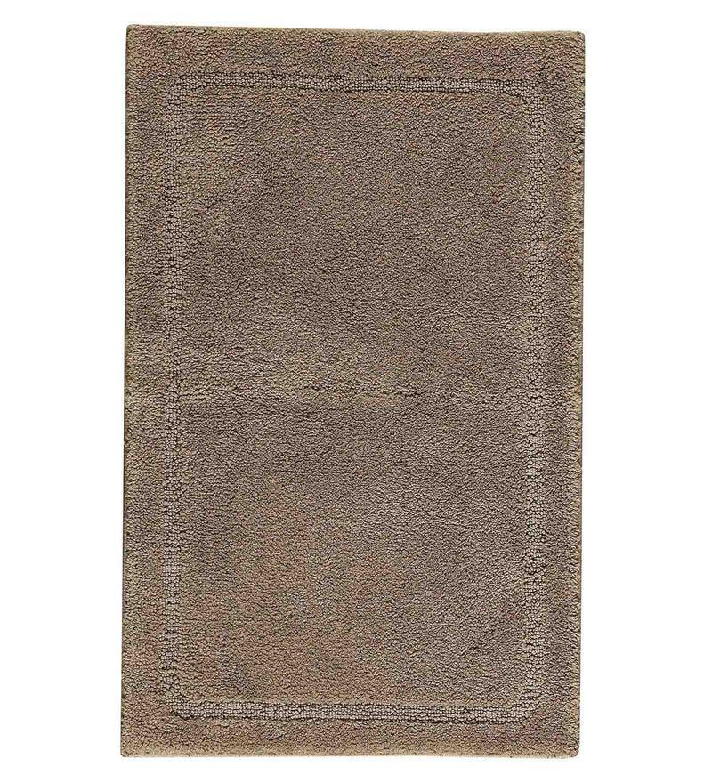 Spaces Brown 100% Cotton 20 x 31 Inch Elan Large Bath Mat
