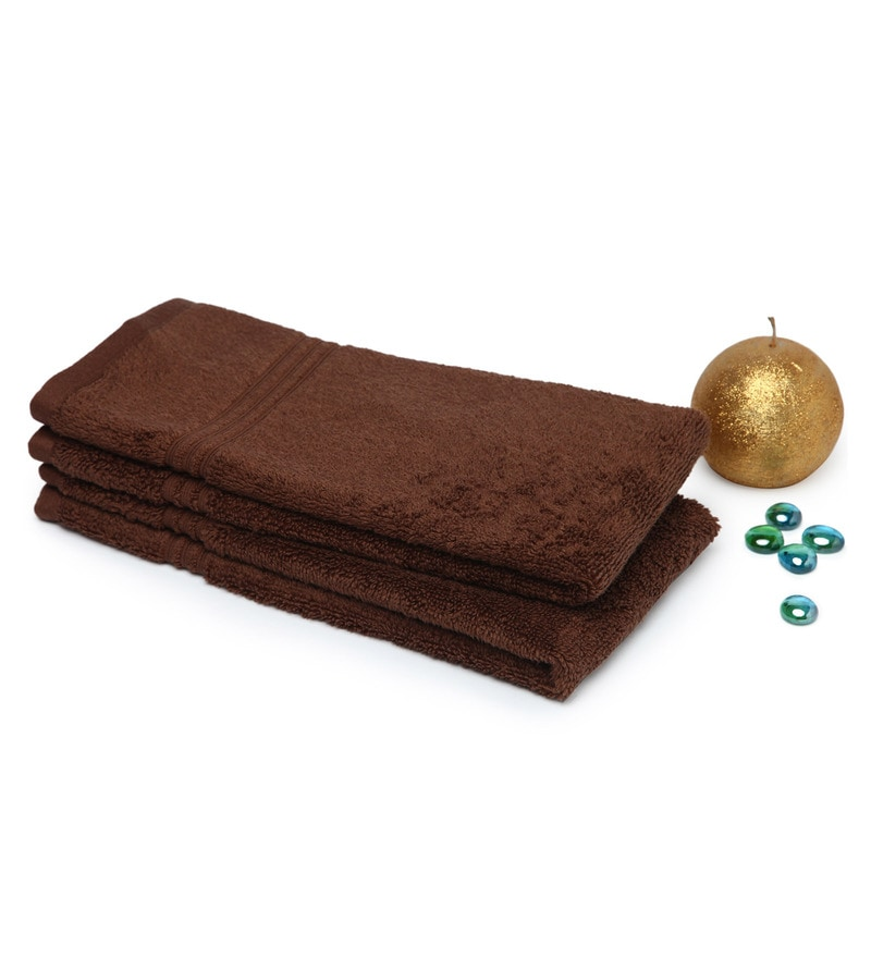 Spaces Chestnut 100% Cotton 16 x 24 Inch Swift Dry Hand Towel - Set of 2
