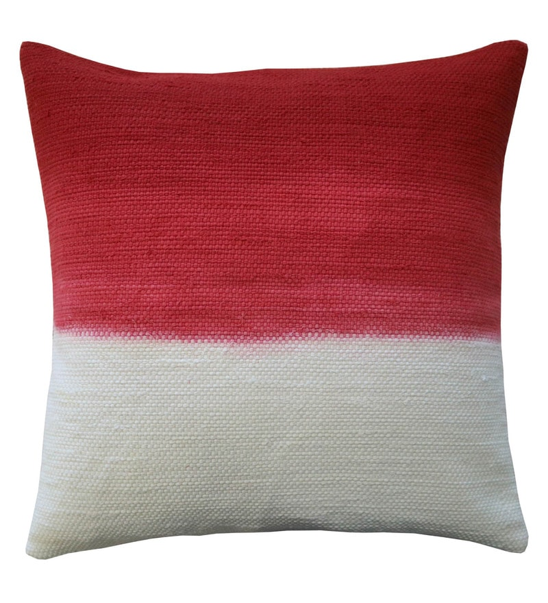 Spaces Claret 100% Cotton 16 x 16 Inch Spun Terra Cushion Cover