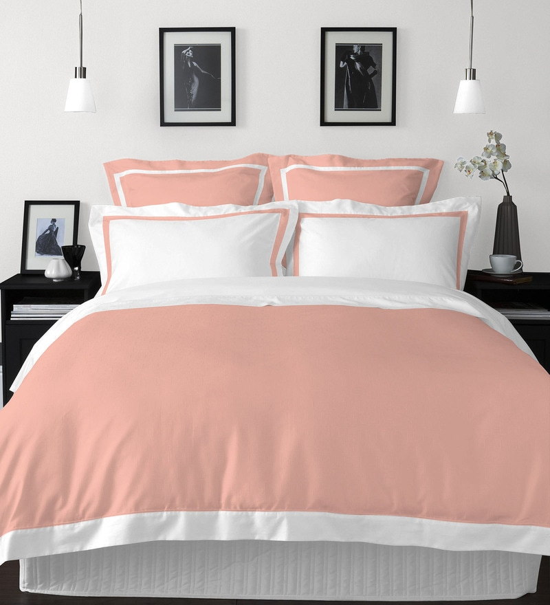 Coral 100% Cotton Hygro King Bed Sheet Set by Spaces