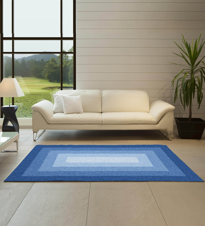 Spaces Denim Blue Nylon 29 x 60 Inch Youthopia Carpets