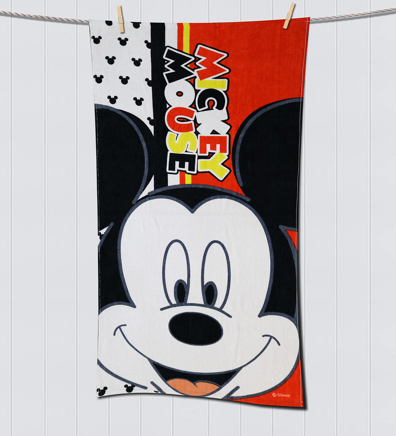 Disney Micky Red Bath Towel by Spaces