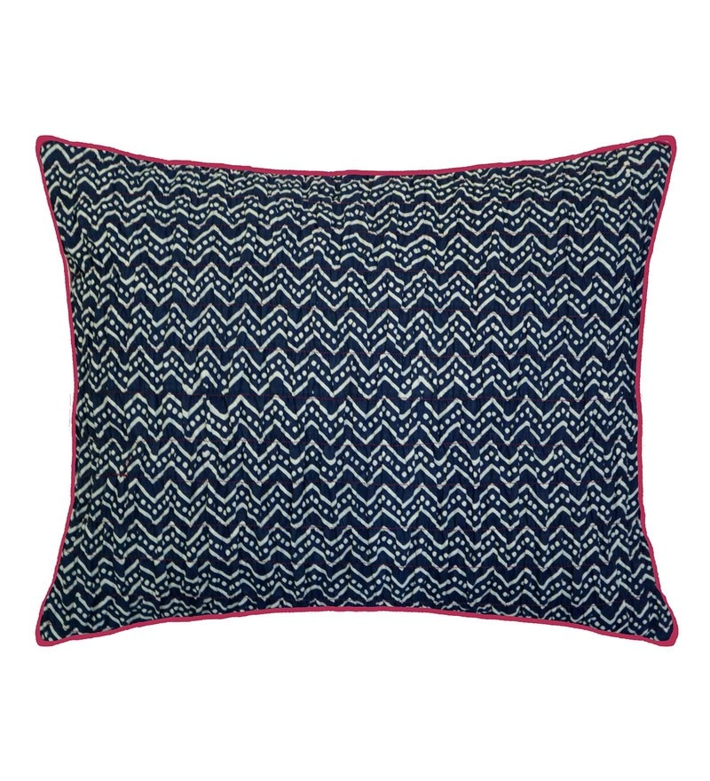 Spaces Indigo 100% Cotton 12 x 16 Inch Spun Syahi Cushion Cover
