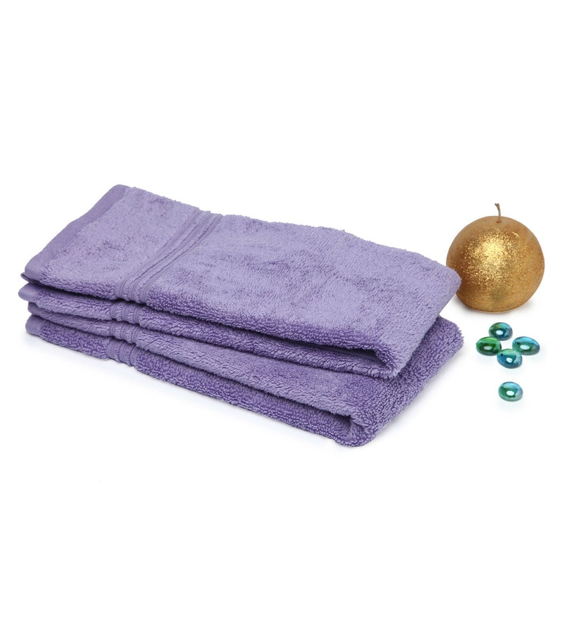 Spaces Lavender 100% Cotton 16 x 24 Inch Swift Dry Hand Towel - Set of 2
