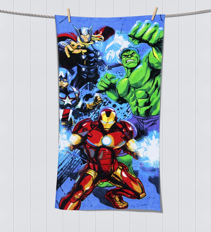Marvel Avengers Navy Blue Bath Towel by Spaces