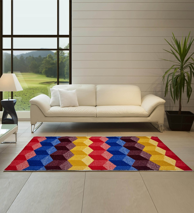 Spaces Multicolour Nylon 29 x 60 Inch Allure Bed Side Runner