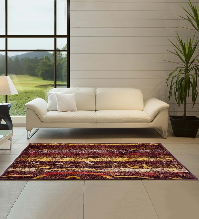 Spaces Multicolour Polypropylene 18.6 x 31.68 Inch Carpet