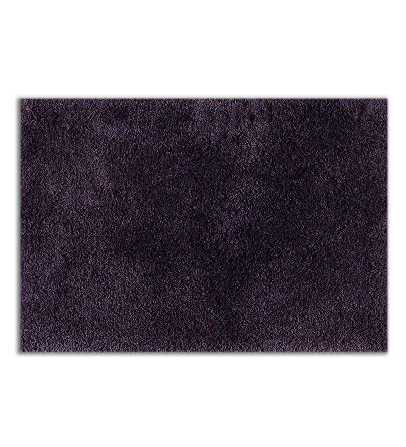 Purple 100% Cotton 16 x 24 Inch Exotica Bath Mat by Spaces