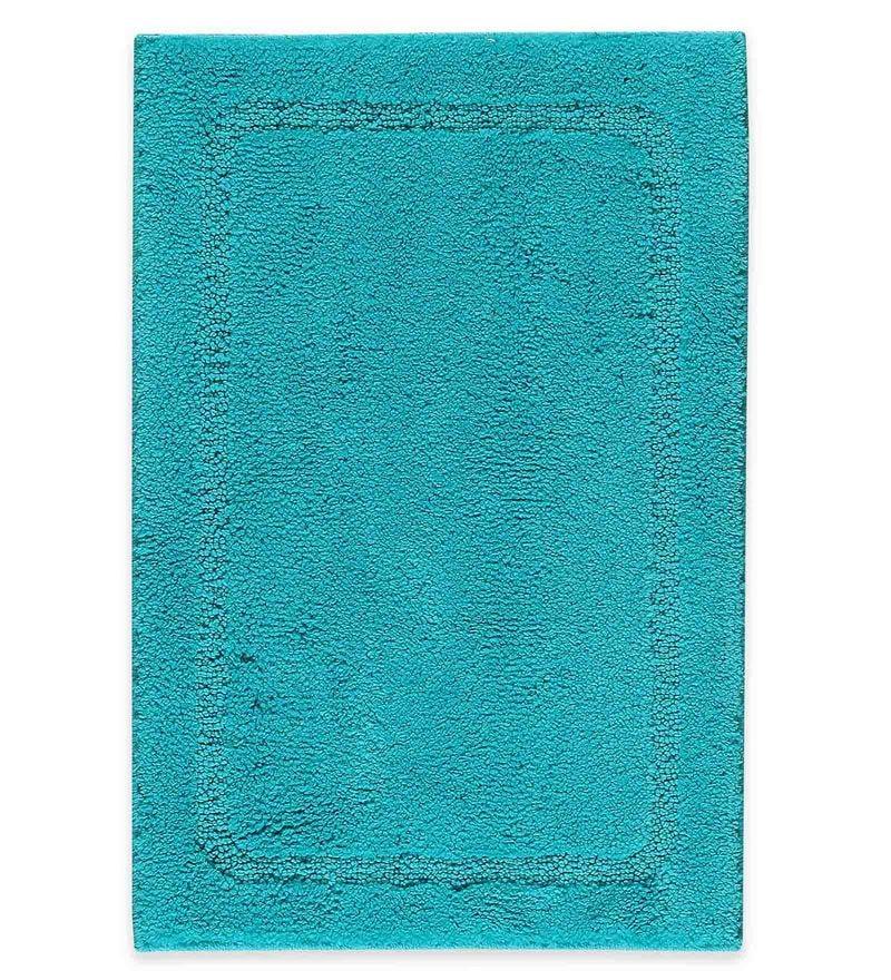 Spaces Scuba Blue 100% Cotton 20 x 31 Inch Elan Large Bath Mat