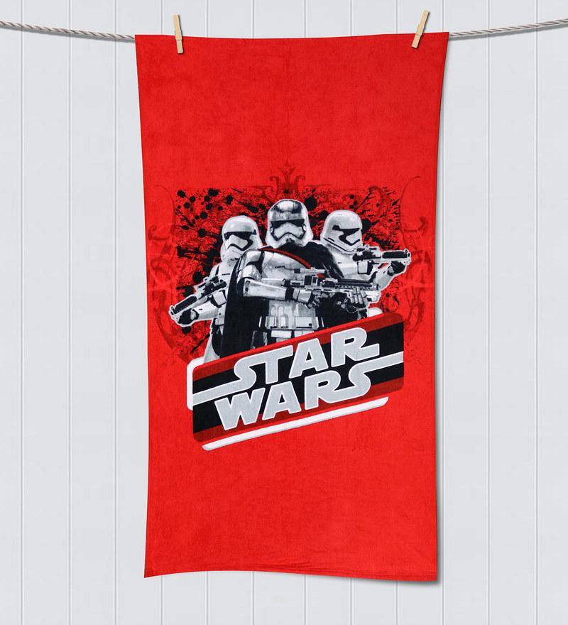 Starwars LucasFilms Red Bath Towel by Spaces