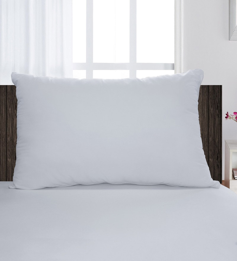 White 100% Cotton 18 x 27 Inch Silkrelle Classic Pillow Insert by Spaces