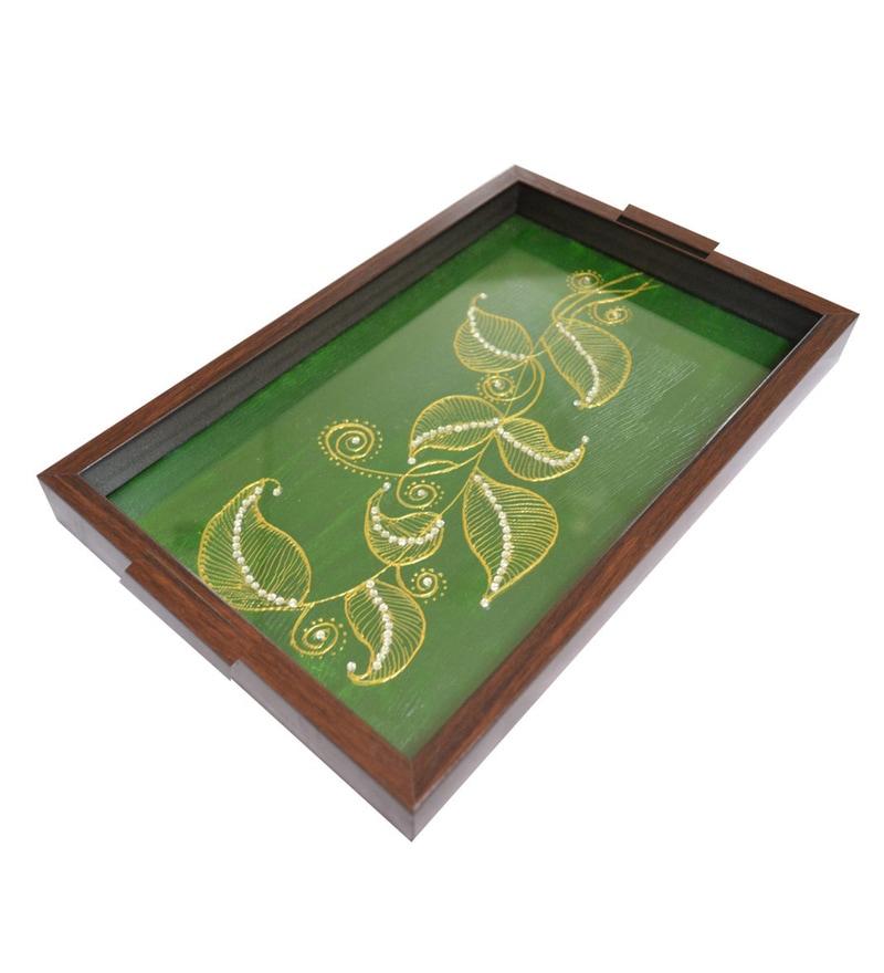 Spectrahut Designer Green Acrylic Serving Tray