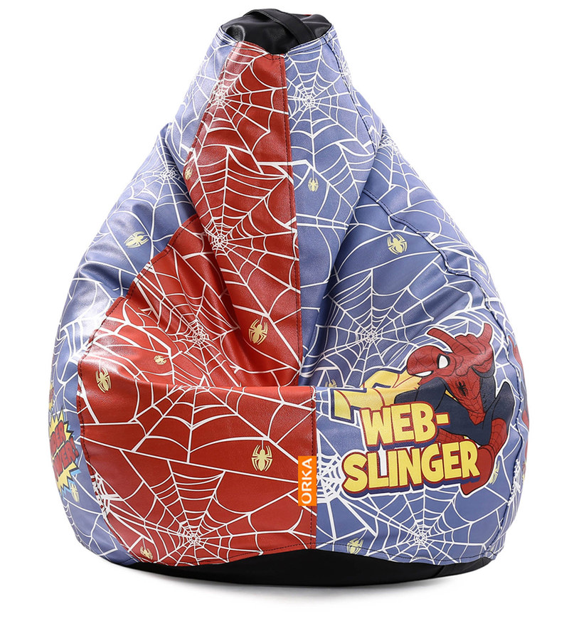 Buy Spiderman Kids Bean Bag With Beans In Multicolour By