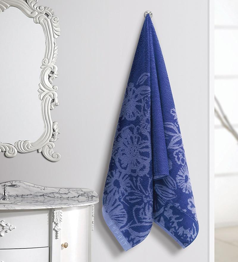 Designer Purple Cotton Hand Towel by ESPRIT