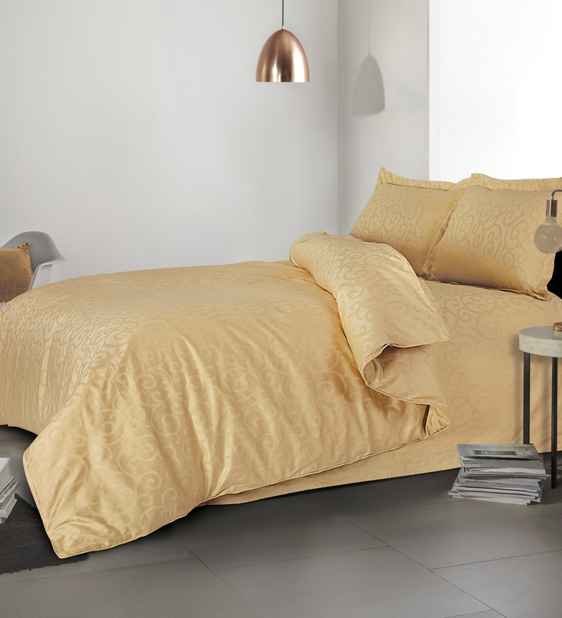 Golden 100% Cotton Single Size Duvet Cover by Spread
