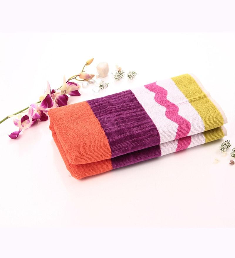 Lasa Season Orange Cotton Hand Towel by Spread
