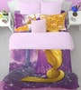 Disney Rapunzel Lavender Double Bedsheet with 2 Pillow Cover by Spaces