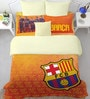 FCB Crest Orange Double Bedsheet with 2 Pillow Covers by Spaces